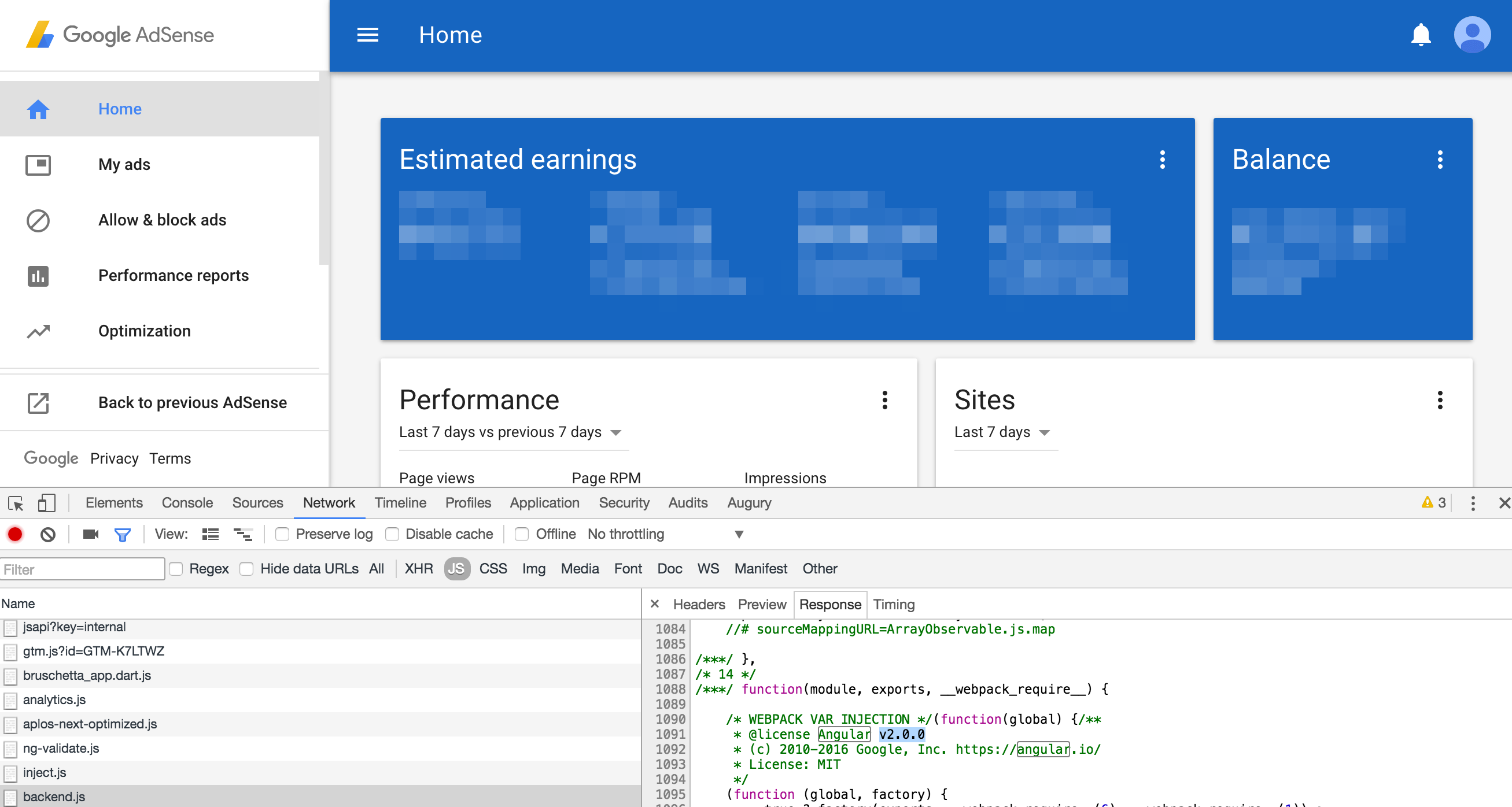 Angular 2 in production on Google AdSense admin UI