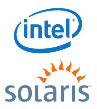 Intel and Solaris logos